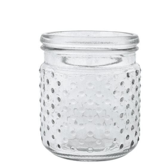 Hobnail Jar and Hanger - Clear
