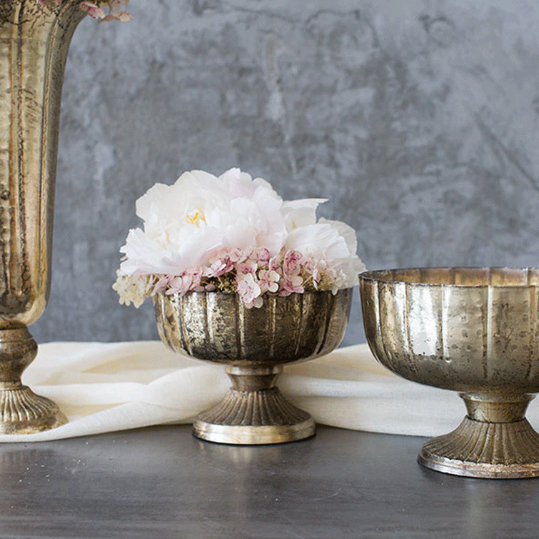 Gold Metal Goblet Bowl