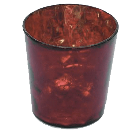Luxe Glass Votive - Ruby Red - Set of 4