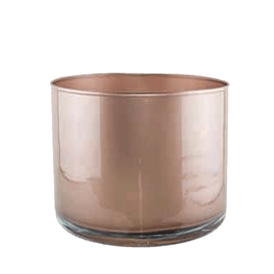 Rose Gold Glass Cylinder