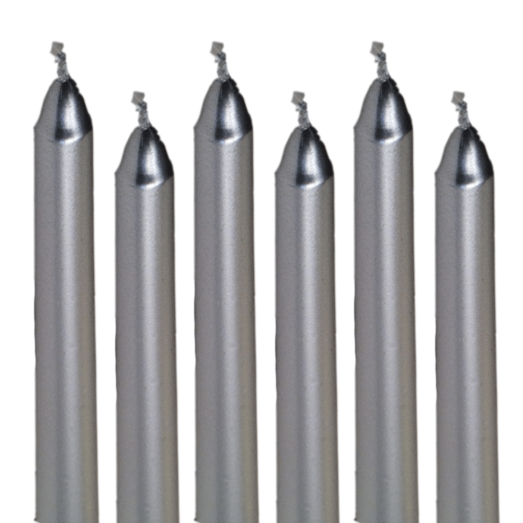 Taper Candles Silver