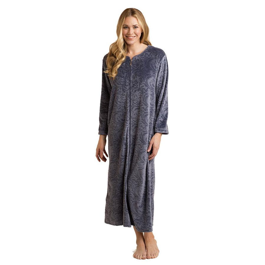 Softies Baroque Embossed Zip Robe