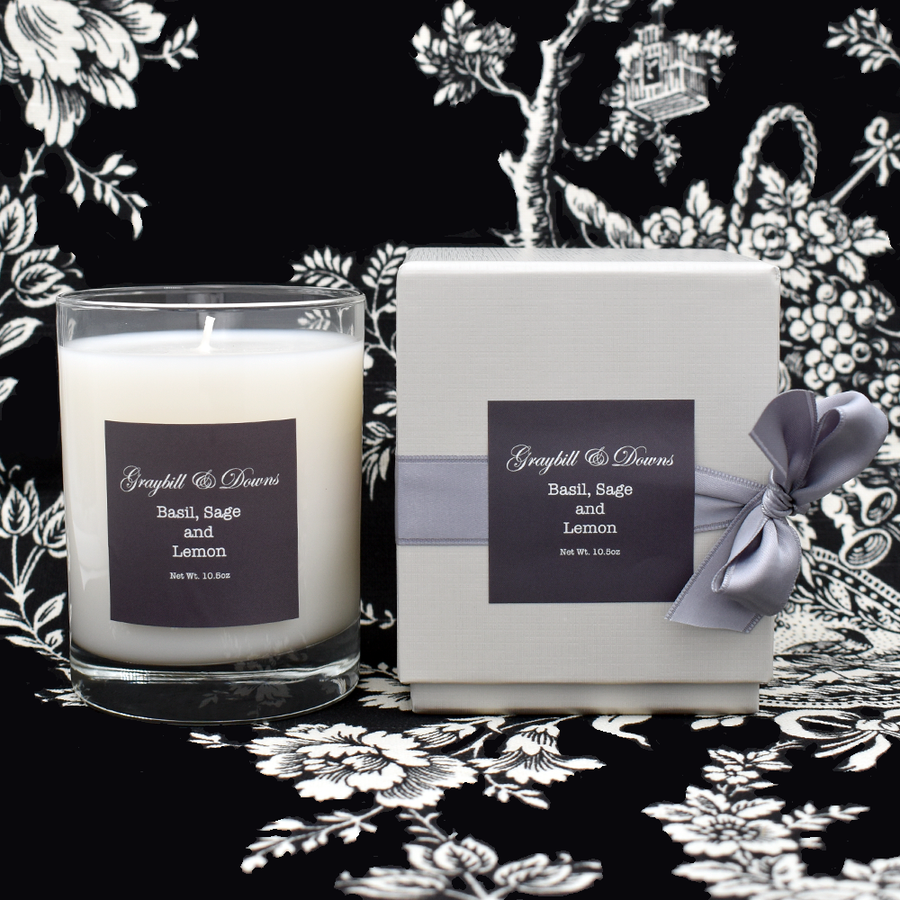 Graybill & Downs Basil, Sage and Lemon Candle