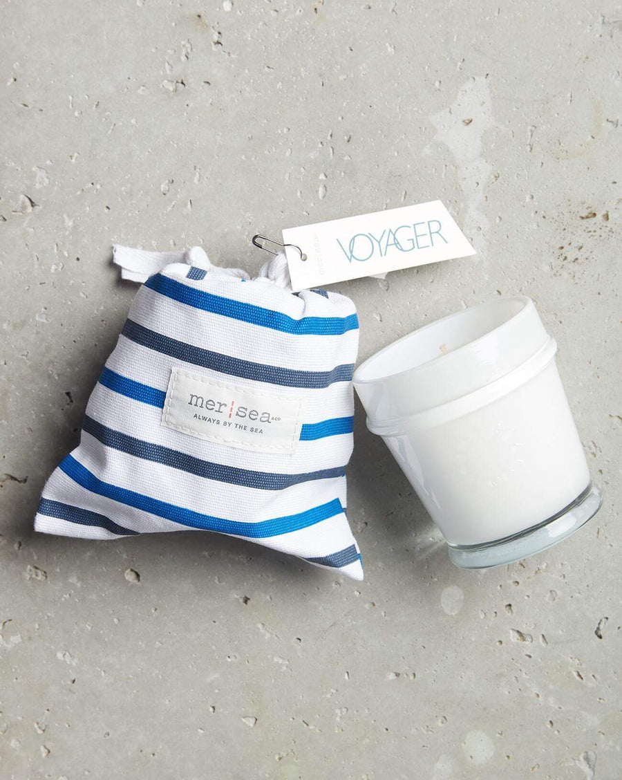 Mer Sea Striped Bagged Candle - Voyager