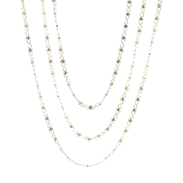 B.b. Lila Show Pony Pearl Necklace