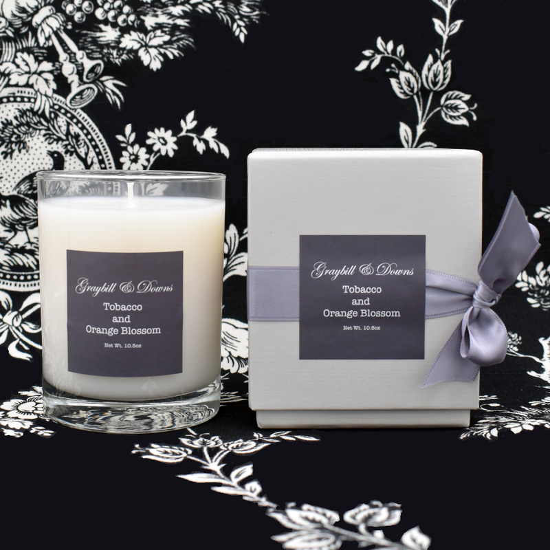 Graybill & Downs Tobacco and Orange Blossom Candle
