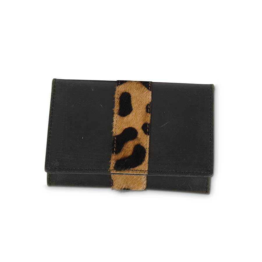 K & K Interiors Leopard Credit Card Holder