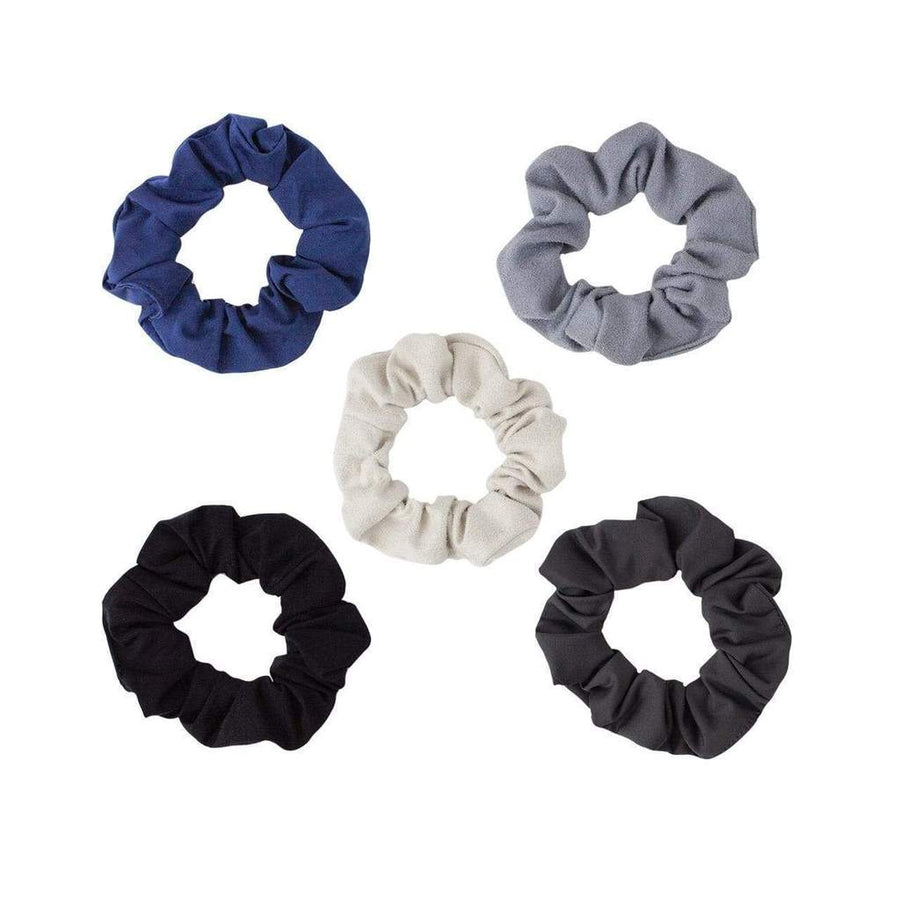 Kitsch Matte Scrunchies-Black/Gray