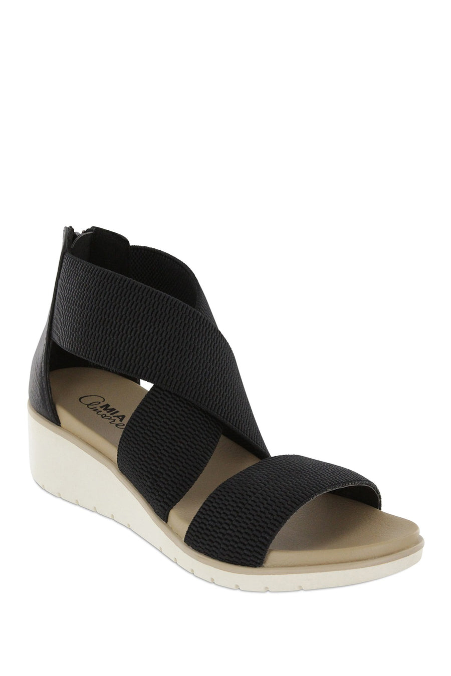 MIA Casandra Cross Strap Wedge Sandal