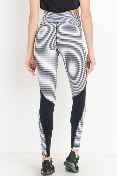 Mono B Monochrome Tiramisu Highwaist Colorblock Full Leggings