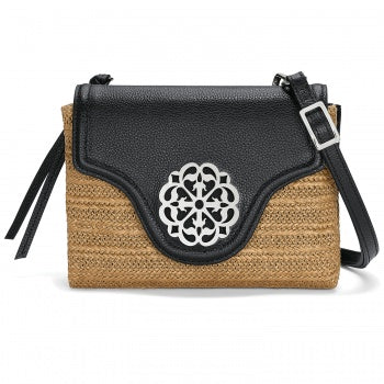 Brighton Ferrara Eve Straw Messenger Crossbody