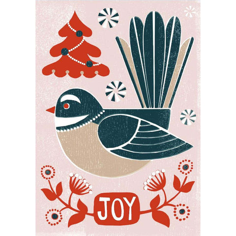 Card - Christmas Piwakawaka Joy