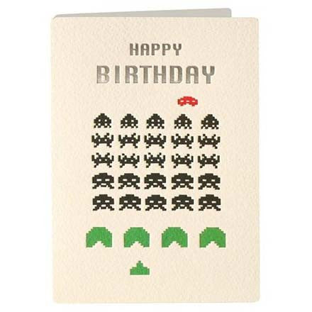 Card - Birthday Space Invaders