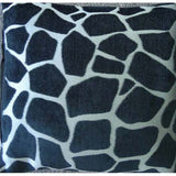Giraffe Print Cushion Cover - Silver / Black