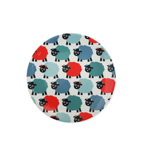 Melamine Plate Kiwi Icons - Missy Sheep
