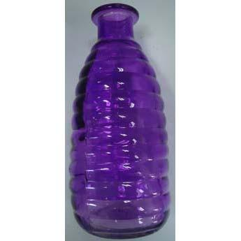 Coloured Ribbed Bottle SML