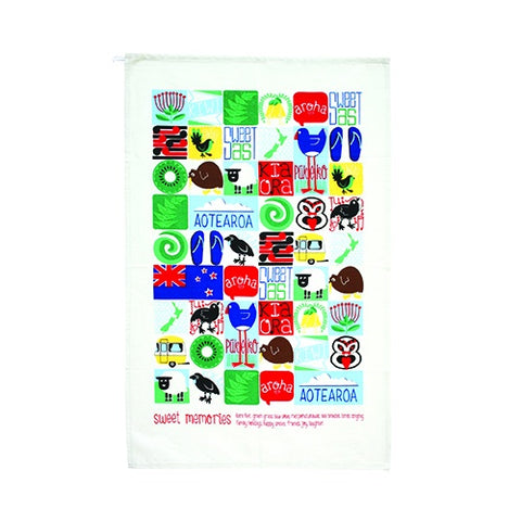 Kiwiana Tiles - Tea Towel