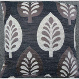 Cushion Cover - Stylized Leaves - Black