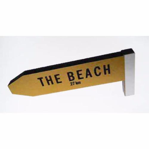 The Beach - AA Road Sign Fridge Magnet