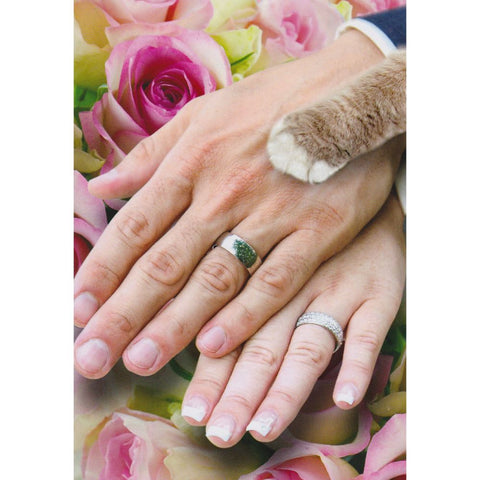 Card - Wedding Hands Cat
