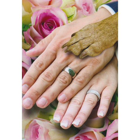 Card - Wedding Hands Dog