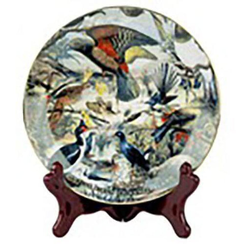 Birds of NZ Prestige - Porcelain Plate with Stand