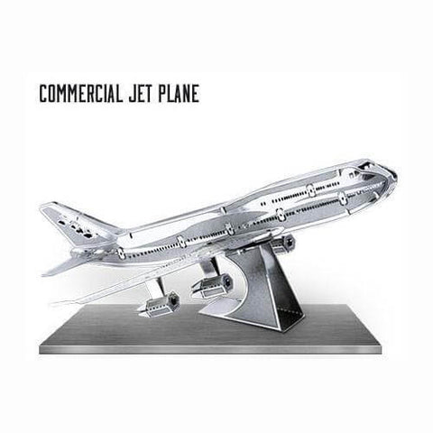 Boeing 747 - Commercial Jet Airplane - Metal Earth Model