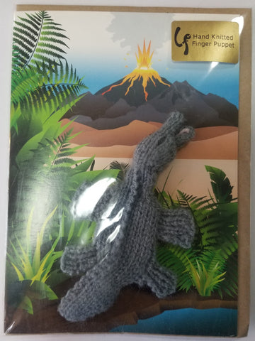 Card - Brontosaurus Dinosaur Finger Puppet - Little Fingy