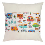 Caravan Holiday Cushion
