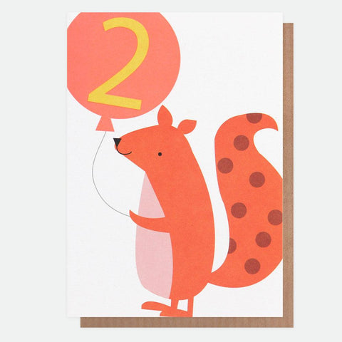 Card - Age 2 Squirrel