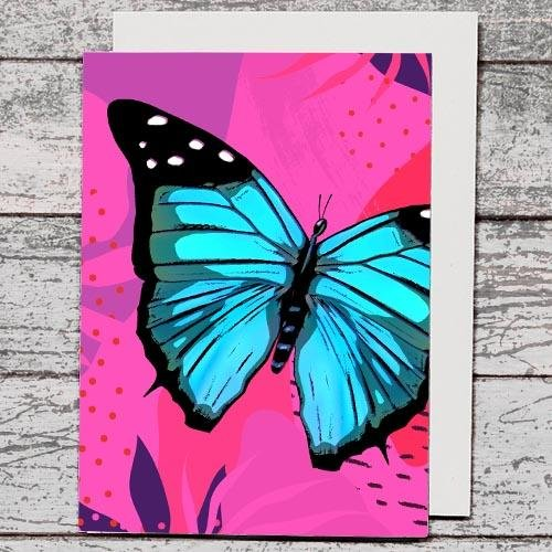 Card - Butterfly Blue