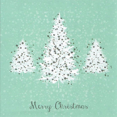 Card - Christmas Silver Snowflakes