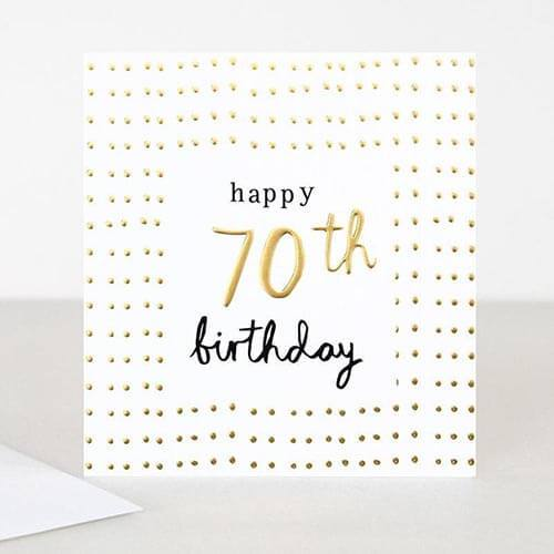 Card - Happy 70th Birthday