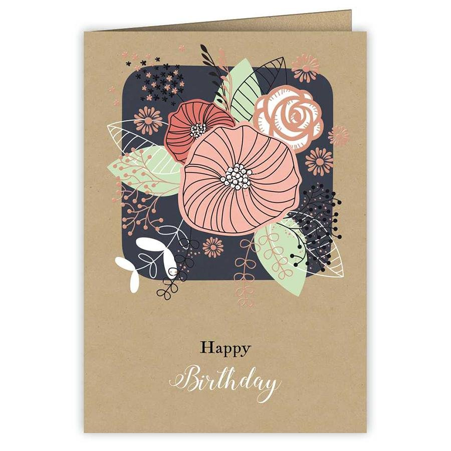 Card - Happy Birthday Flowers