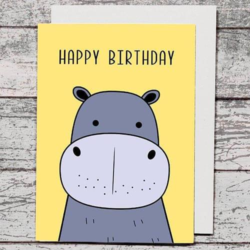 Card - Happy Birthday Hippo