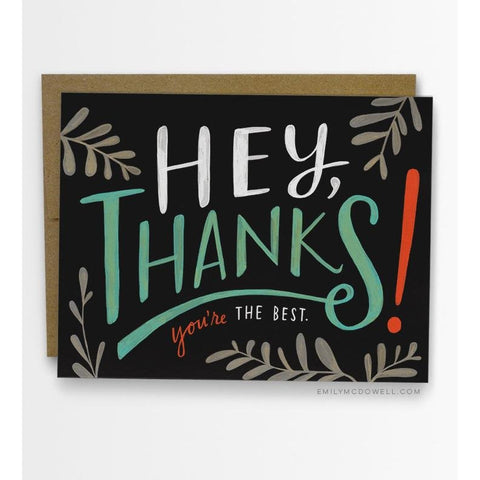 Card - Hey Thanks