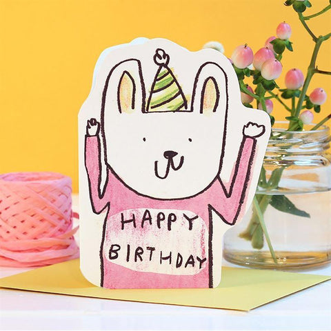 Card - Rabbit Hat Birthday