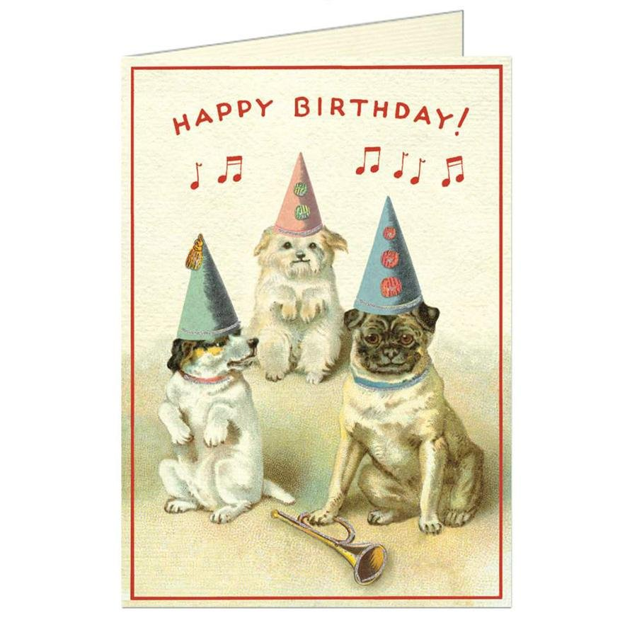 Card - Vintage Dogs Birthday Card