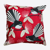 Flirting Fantails Cushion Cover Red