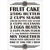 Recipe Magnet - Fruit Cake
