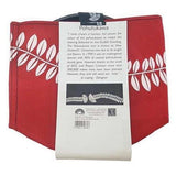 Jo Luping Design - Ecofelt Growbag -White Pohutukawa on Red