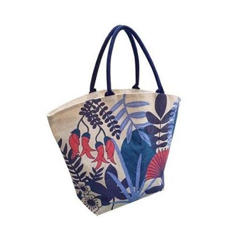 Jute Tote Bag - NZ Flora - LGE