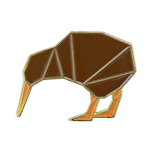 Kiwi Geometric Pin Badge