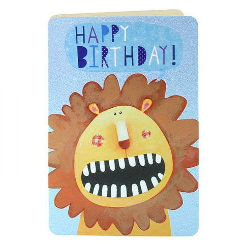 Card - Lion Birthday Childrens