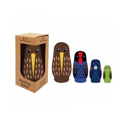NZ Birds Nesting Dolls 4pc