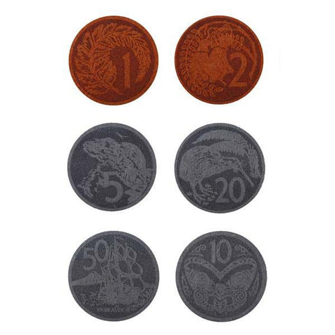 NZ Coin Felt Coasters