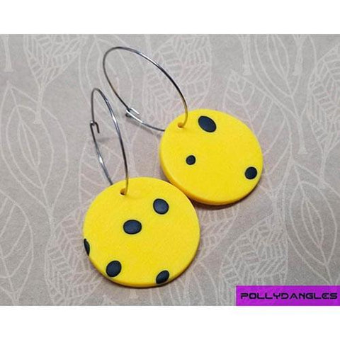 PD - Yellow Spots Circle Hoops