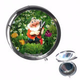 Quirky Animal Compact Mirror - Garden Gnome