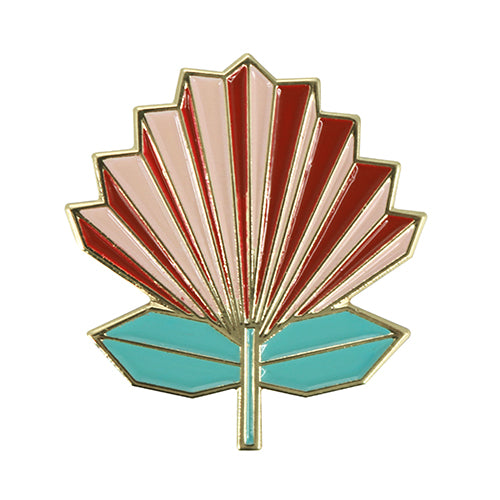 Pohutukawa Geometric Pin Badge