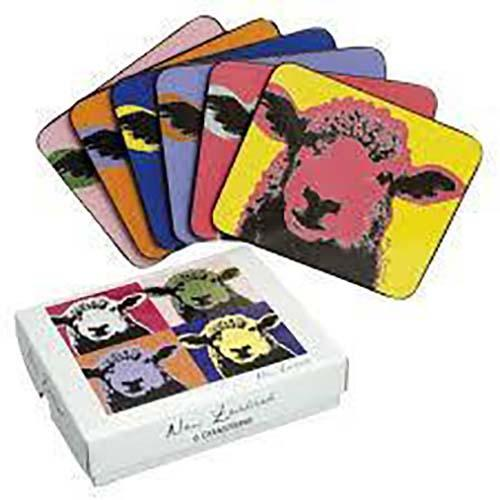 Pop Art Sheep - Kiwiana Coaster Set of 6
